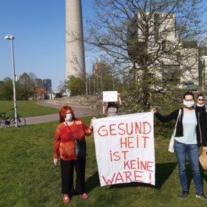 Protest am 9. April 2020