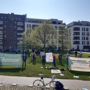 Protest am 9. April 2020