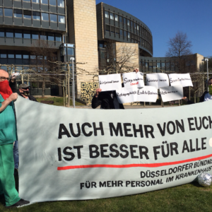 Protest am 6. April 2020